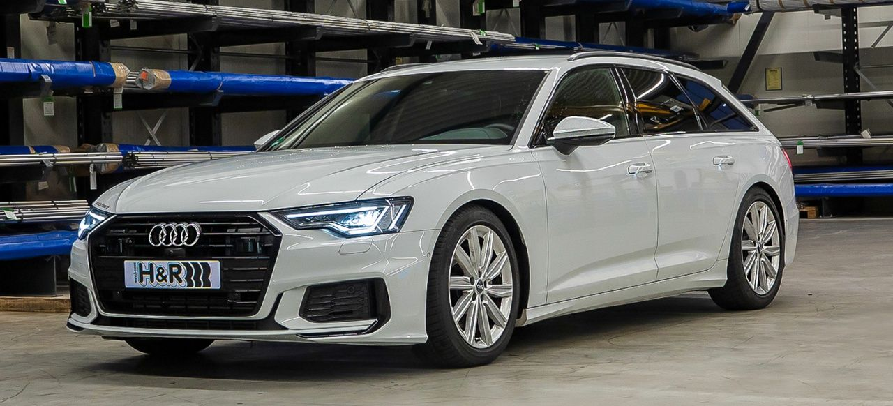 Quadratur Der Ringe H R Sportfedern Fur Die Neue 2019er Audi A6 Baureihe News Audi A6 Audi Sport