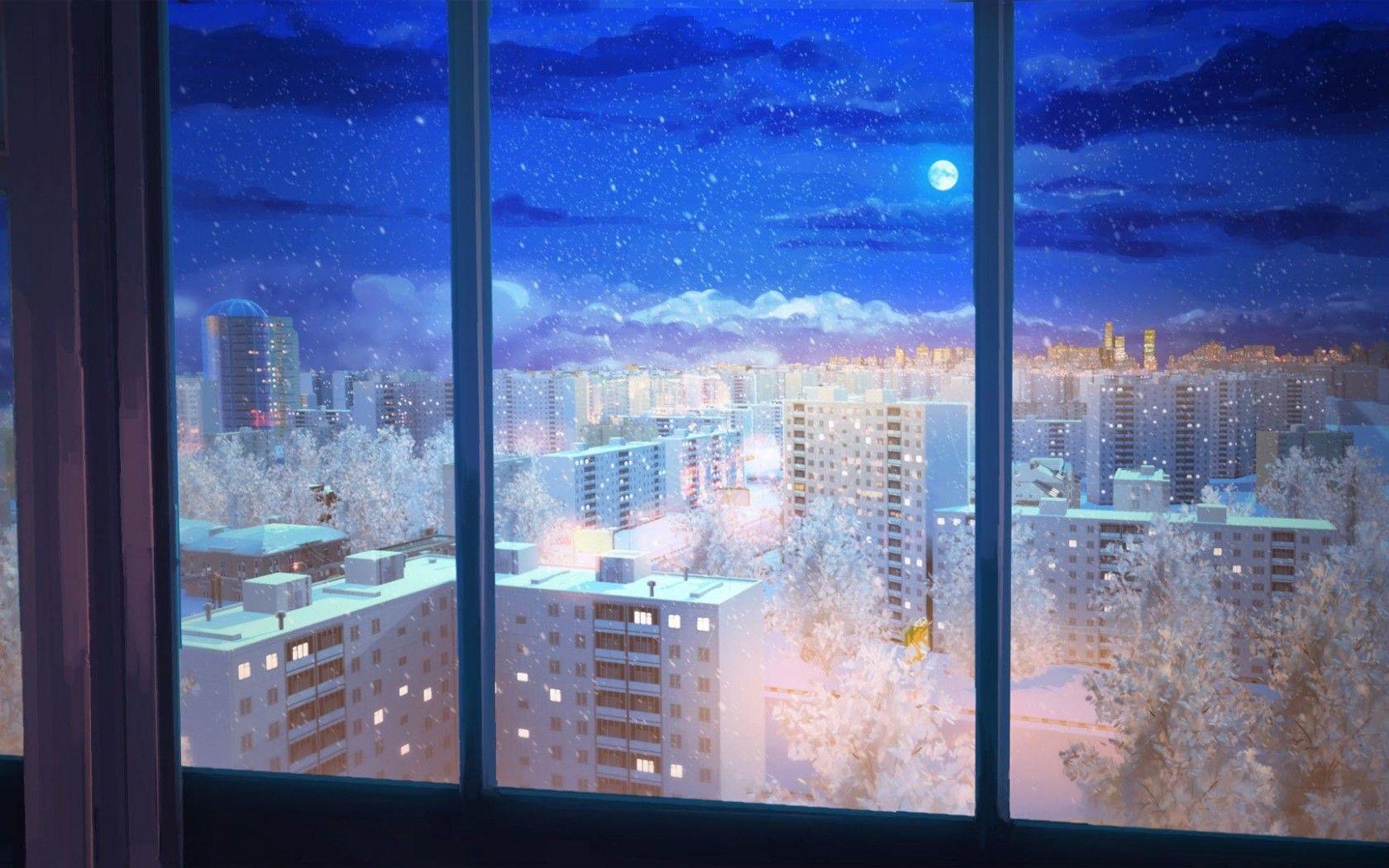 Cozy view [16801050] Anime scenery wallpaper, Anime