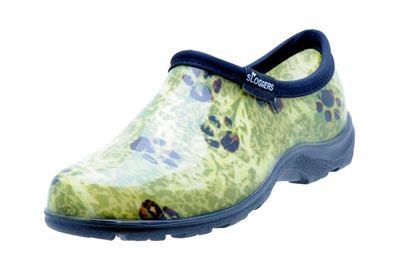 Women S Rain Garden Shoes Paw Print Green Shoes Diy Shoes