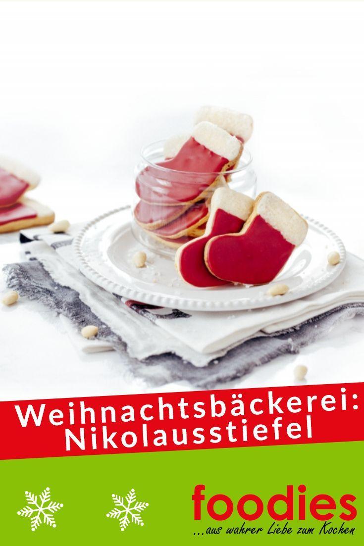 Weihnachtsbäckerei: Nikolausstiefel #nikolausbacken Am Nikolaustag sollten diese roten Stiefelchen auf keinen Fall fehlen #Nikolaus #Stiefel #Backen #Nikolaustag #nikolausbacken