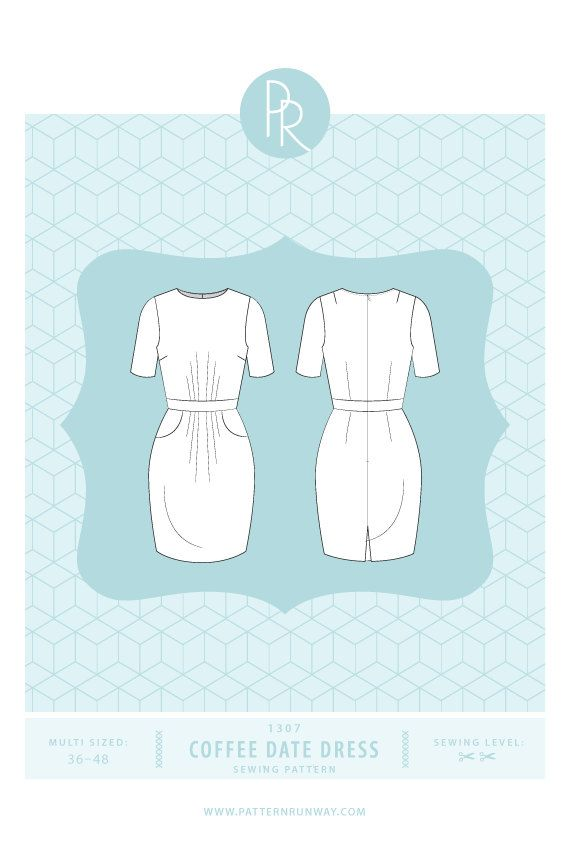 Items similar to Coffee Date Dress Sewing Pattern on Etsy