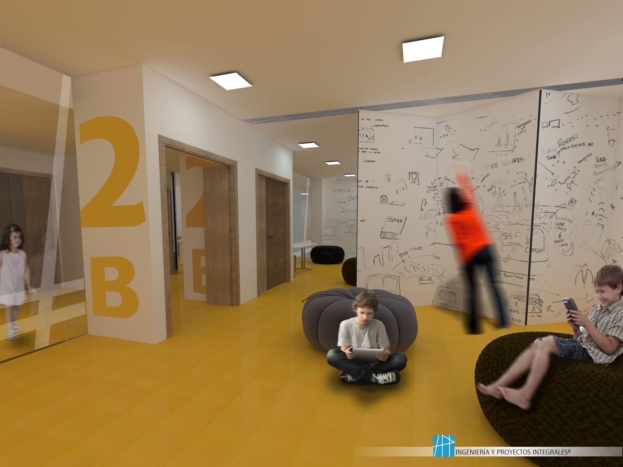 Aulas primaria tabiques m viles ingenier a y proyectos integrales pinterest interior - Tabiques moviles vivienda ...