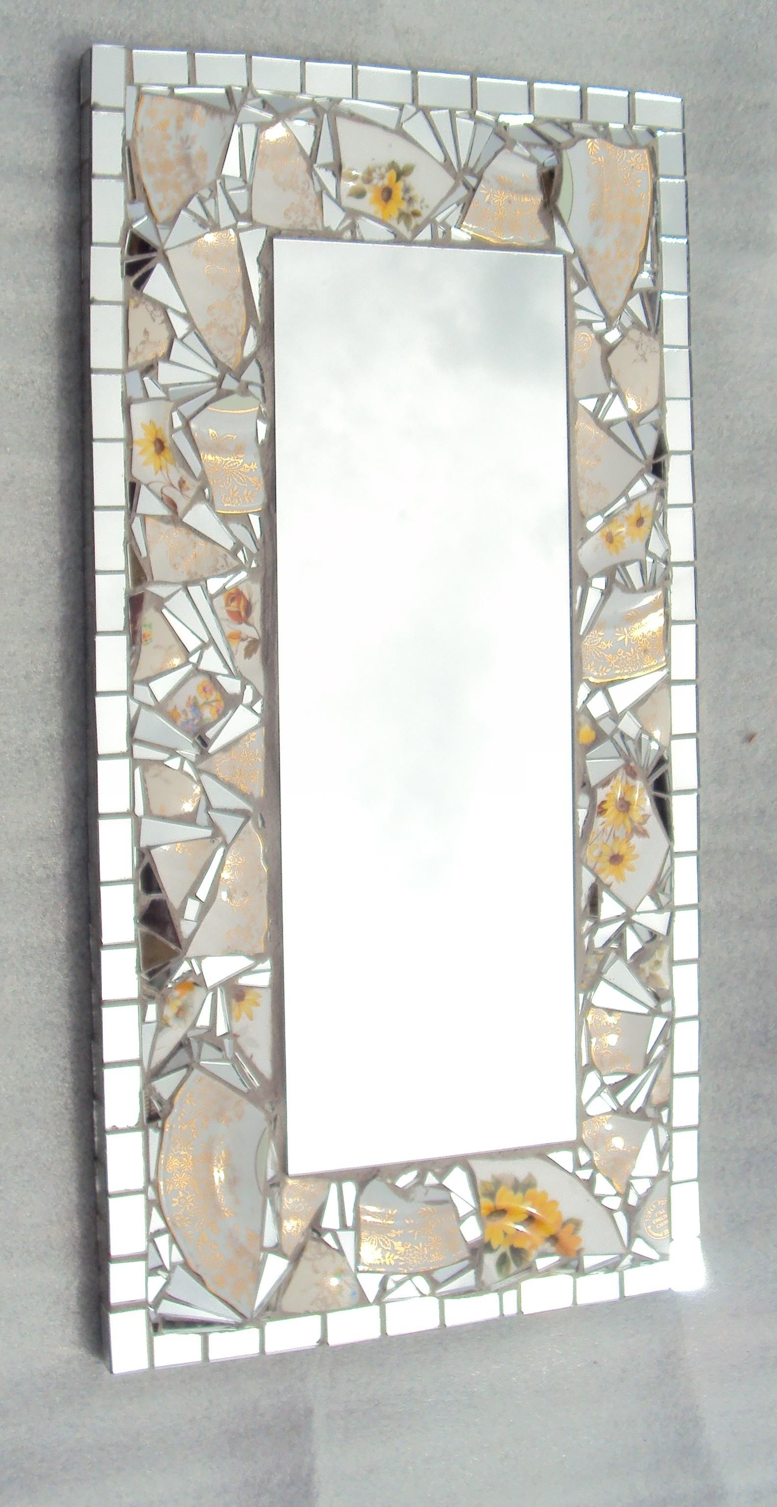 borders for bathroom mirrors mirror with mosaic tile border tile design ideas 17488