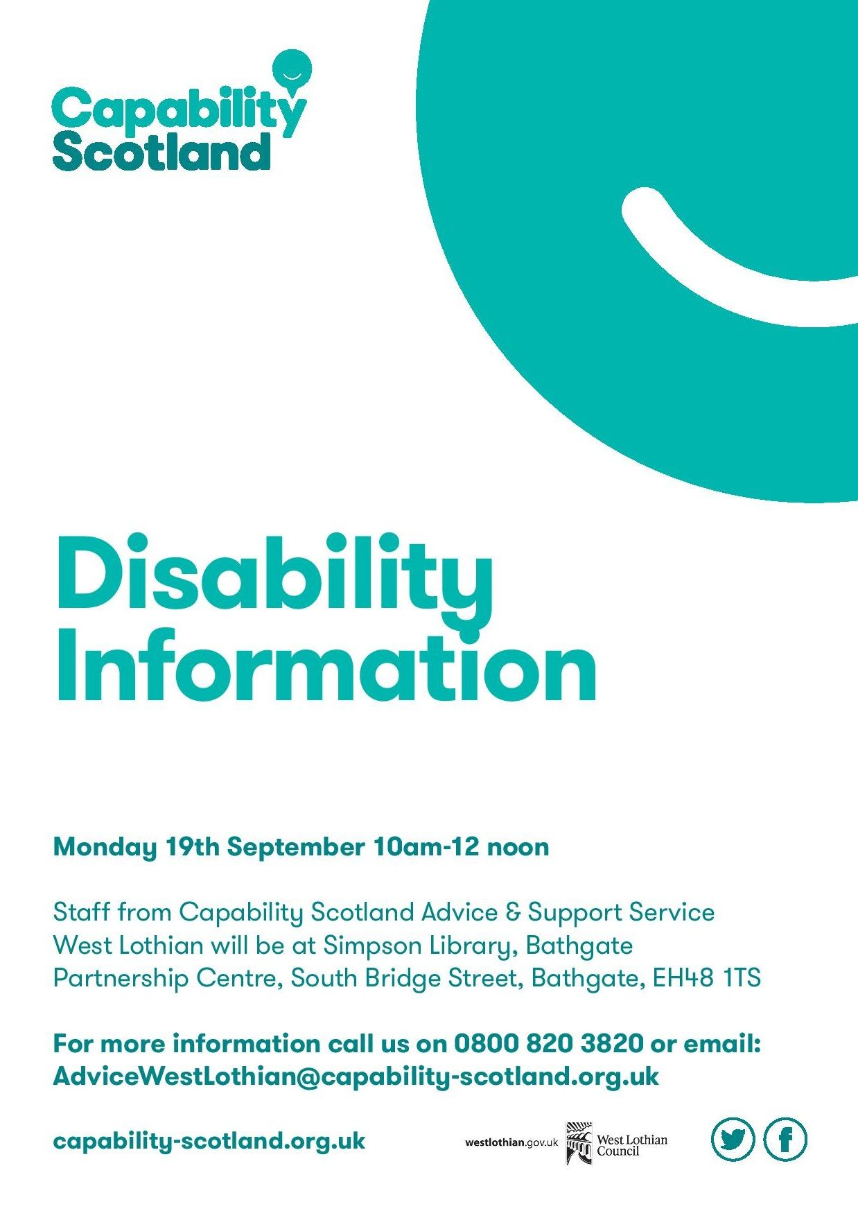 Disability information session in simpson library staff
