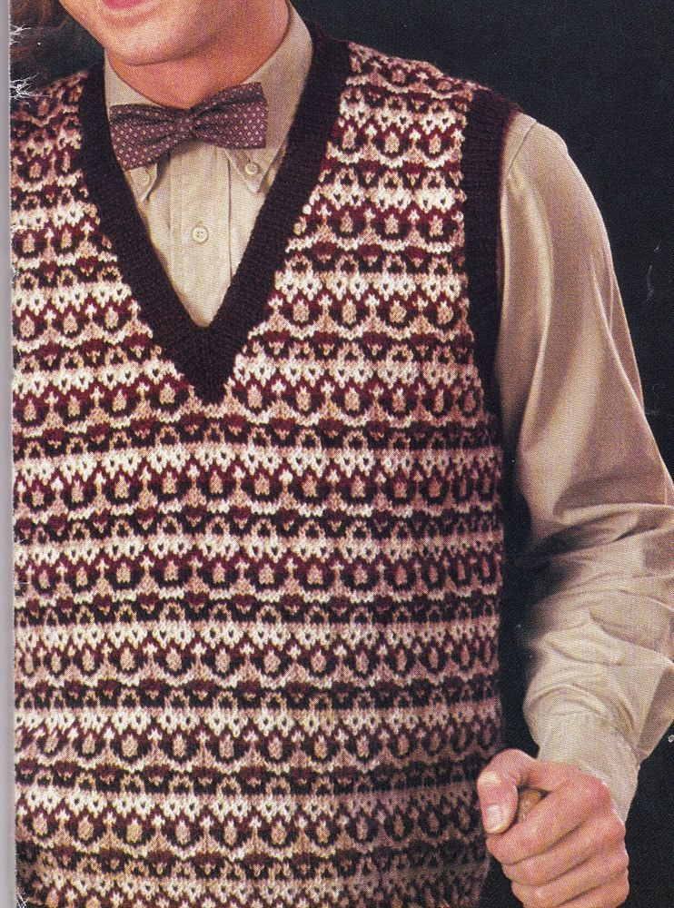 Vintage Knitting Pattern Instructions Ladies Mens Fair Isle ...