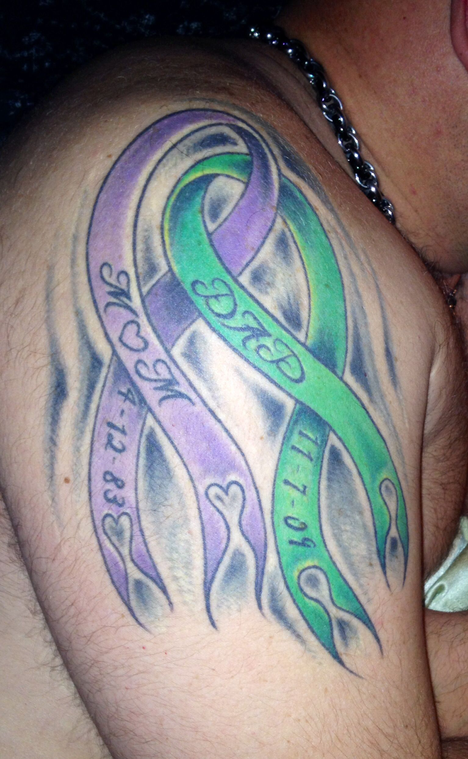 Billys Memorial Tats To His Mom Dad Stomach Cancer Violet