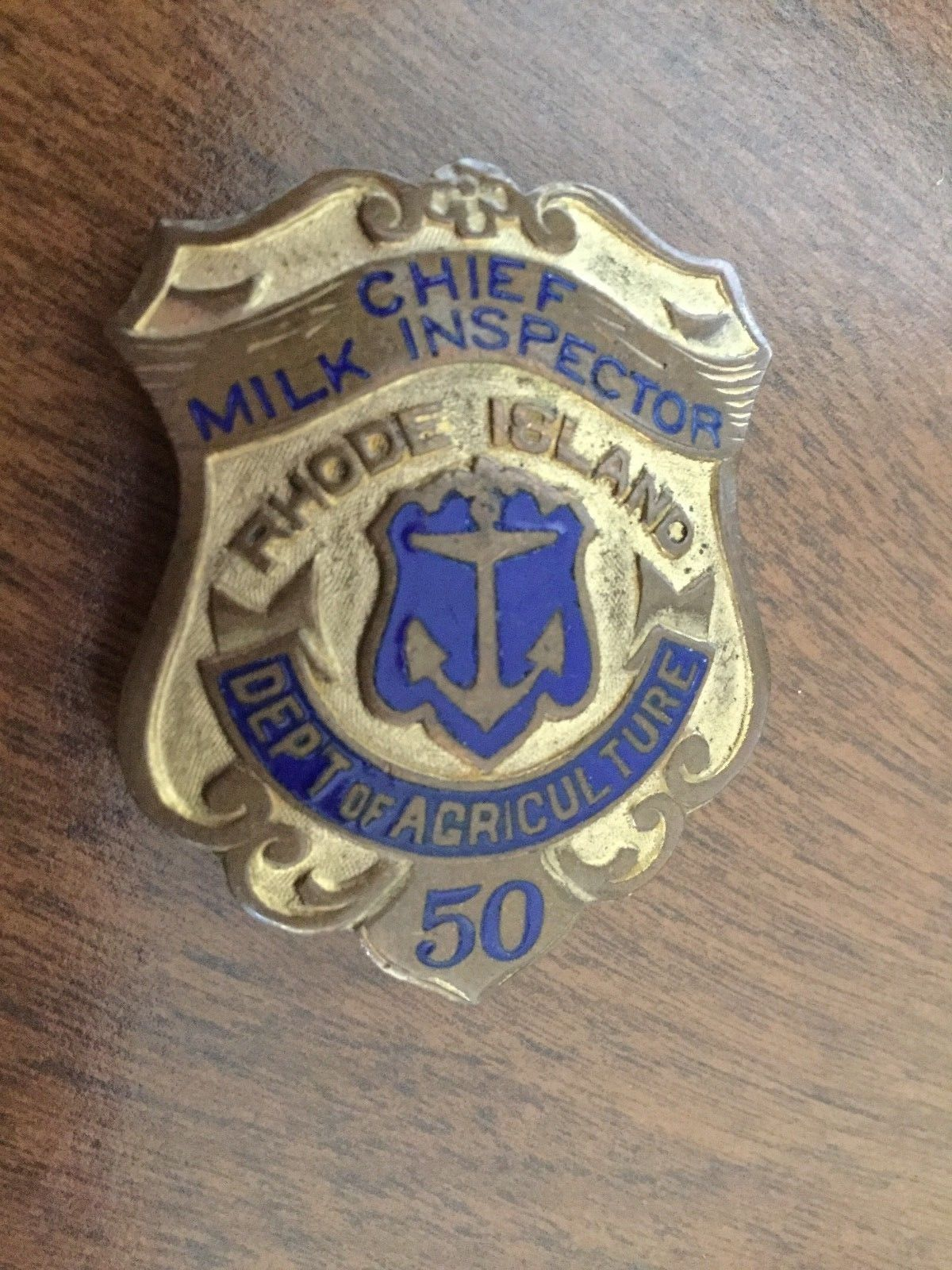 Chief Milk Inspector, Department of Agriculture, Rhode