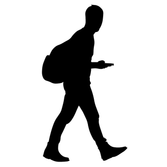 Man Walking Silhouette Bag If You Find This Image Useful You Can Make A Donation To The Artis Silhouette Illustration Silhouette Man People Illustration