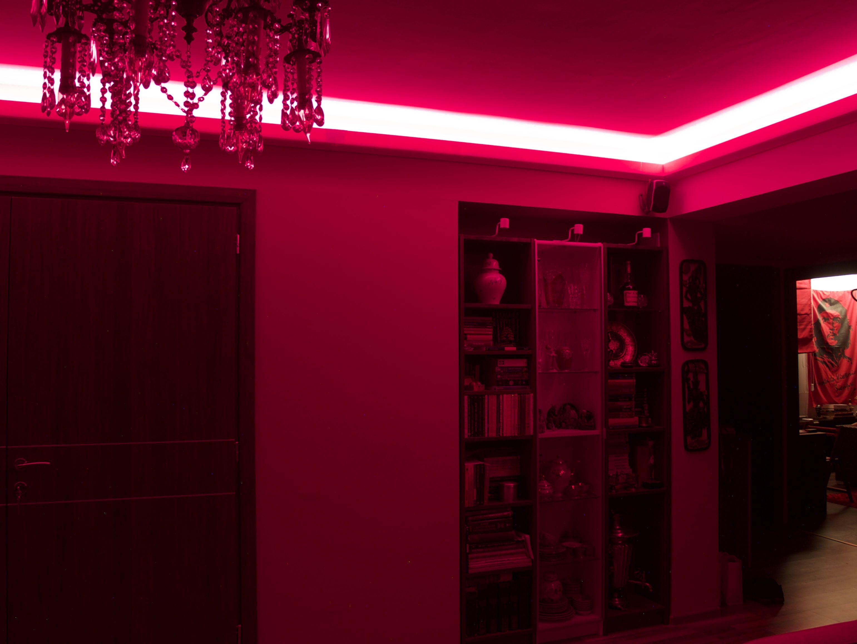 Living Lights By Philips Hue Plus Light Strip Red Hue Philips Strip Lighting Lights
