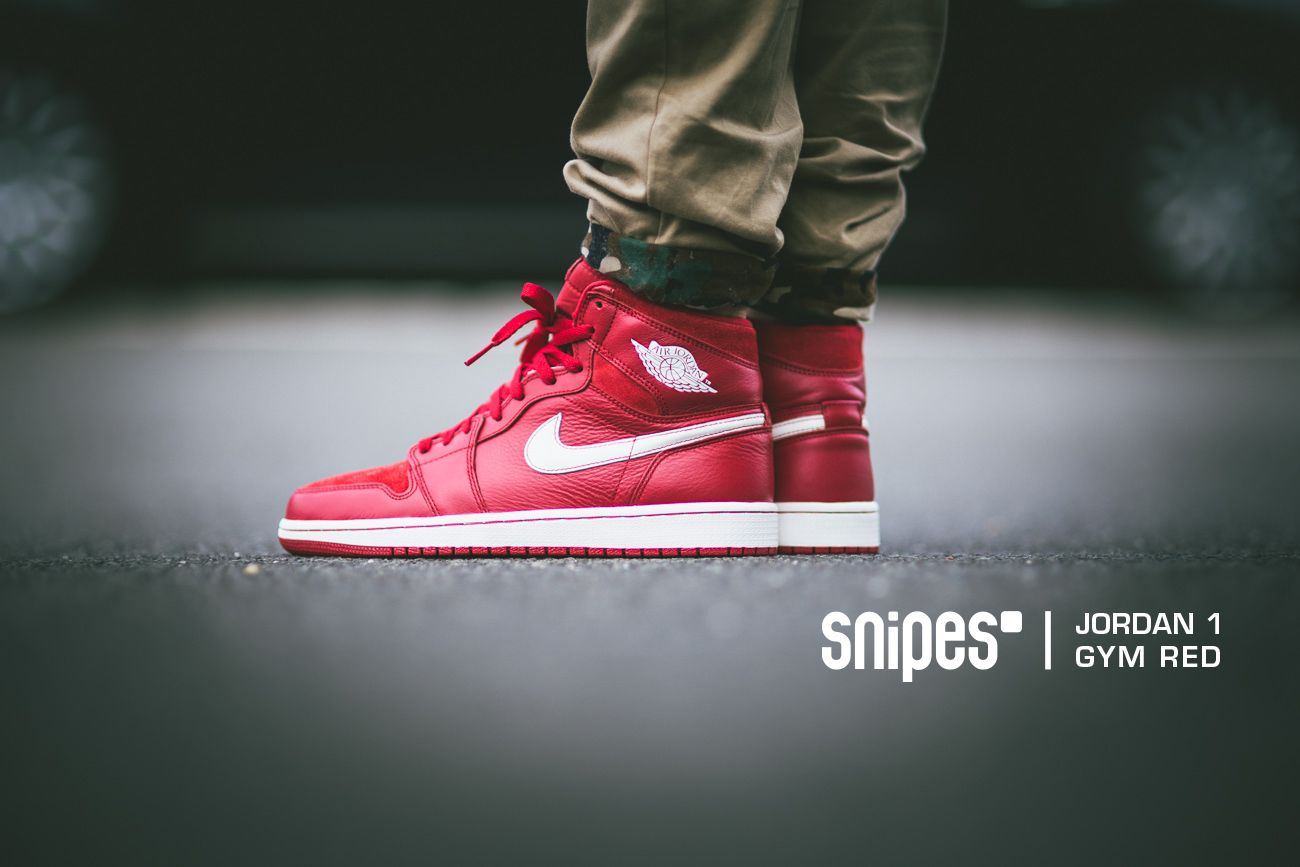 """más Calificación Humano  Der Air Jordan 1 Retro High OG """"Gym Red"""" wird ab Samstag (28.06.) nur auf  www.snipes.com/hotreleases er… 