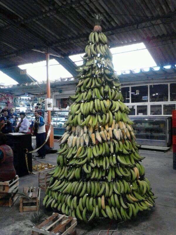 Banana Christmas Tree !!! Only In Puerto Rico My Beautiful  - Christmas Trees Ri