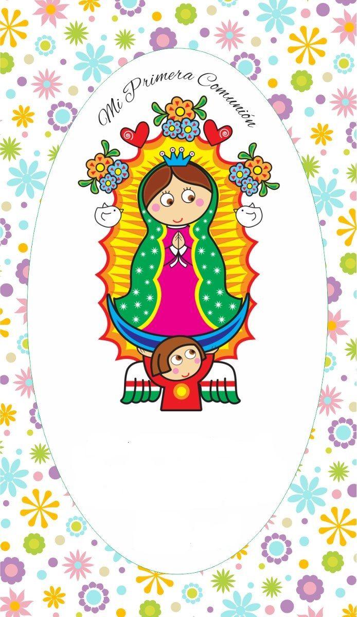 bf153150eee0 estampita Virgencita porfis | 1era Comunión | Fondo primera comunion ...