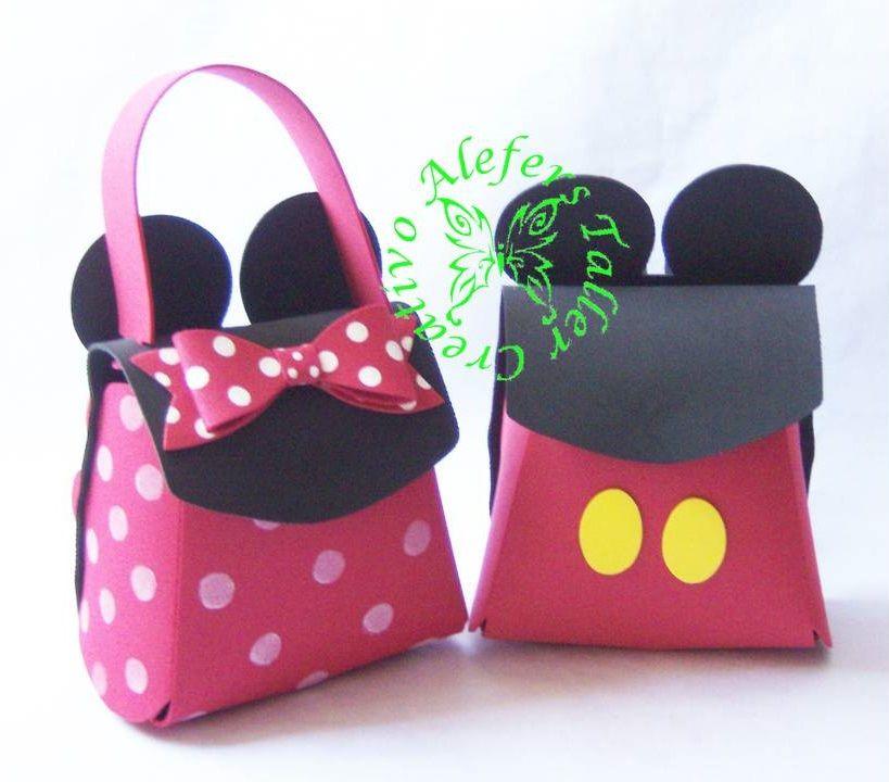 Bolso y morral de Minnie & Mickey mouse en foami...=) | Fomi ...