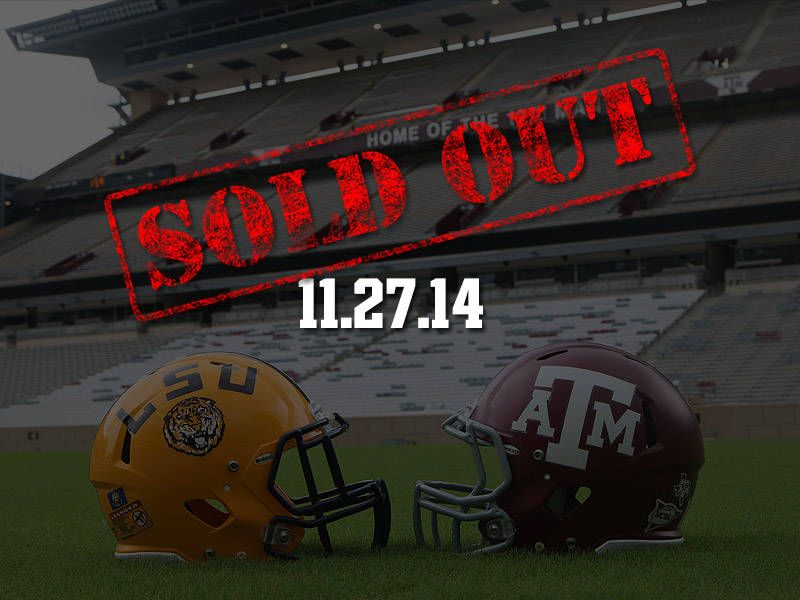 A M Thanksgiving Tilt Against Lsu Sold Out Lsu Texas A M College Pride