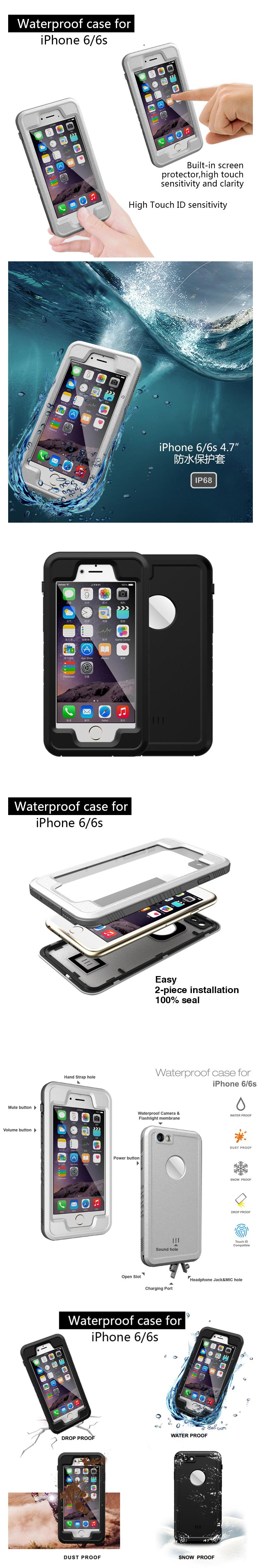 Anti Shock Shockproof Dustproof Underwater Diving Waterproof Phone Love Mei Powerful Bumper Case Xiaomi Mi Note 2 Original 100 Cases Cover For Apple Iphone 6 6s 360