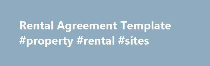 Rental Agreement Template #property #rental #sites    remmont - apartment rental agreement template word