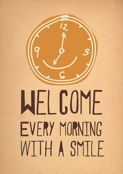 Empezamos cada día con una sonrisa! Buenos días!