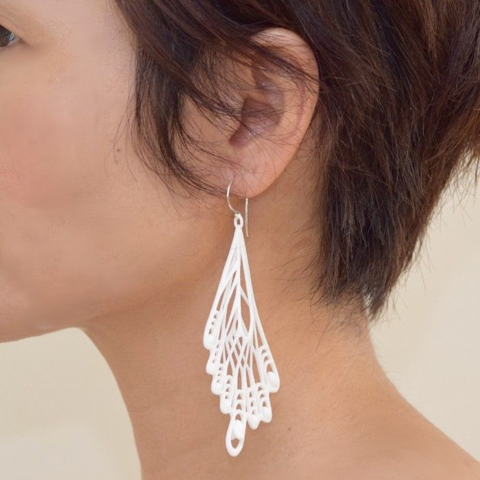 earrings inspired by the swallowtail butterfly