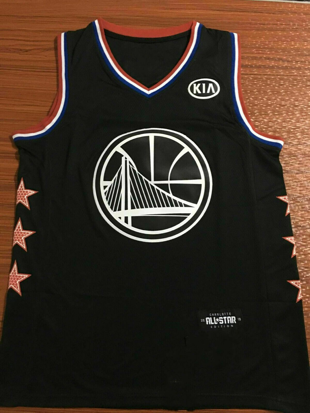 competitive price e92d7 350c8 All-Star Golden State Warriors #30 Stephen Curry Black ...