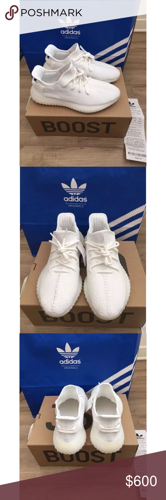 6ea2fbd1f09b4 Yeezy Boost Triple White 100% AUTHENTIC DS New in box. Guaranteed 100%  authentic