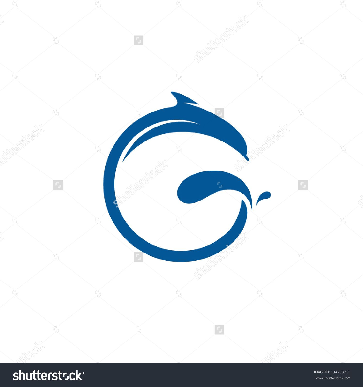 Stock vector sign the letter g dolphin on the wave water animal icon stock vector sign the letter g dolphin on altavistaventures Images