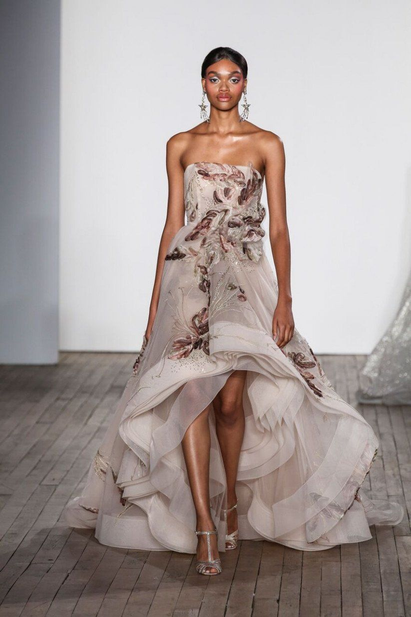 53dc0a06e5 2019 Mother-of-the-Bride Trends for Cool Moms - high-low hemlines Dress by  Lazaro {Dan Lecca}