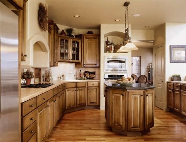 Rustikale Küchenmöbel ~ Rustikale möbel landhausstil kücheneinrichtung südliches flair