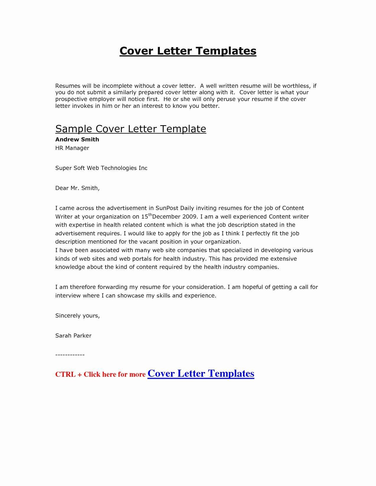 Google Doc Cover Letter Templates
