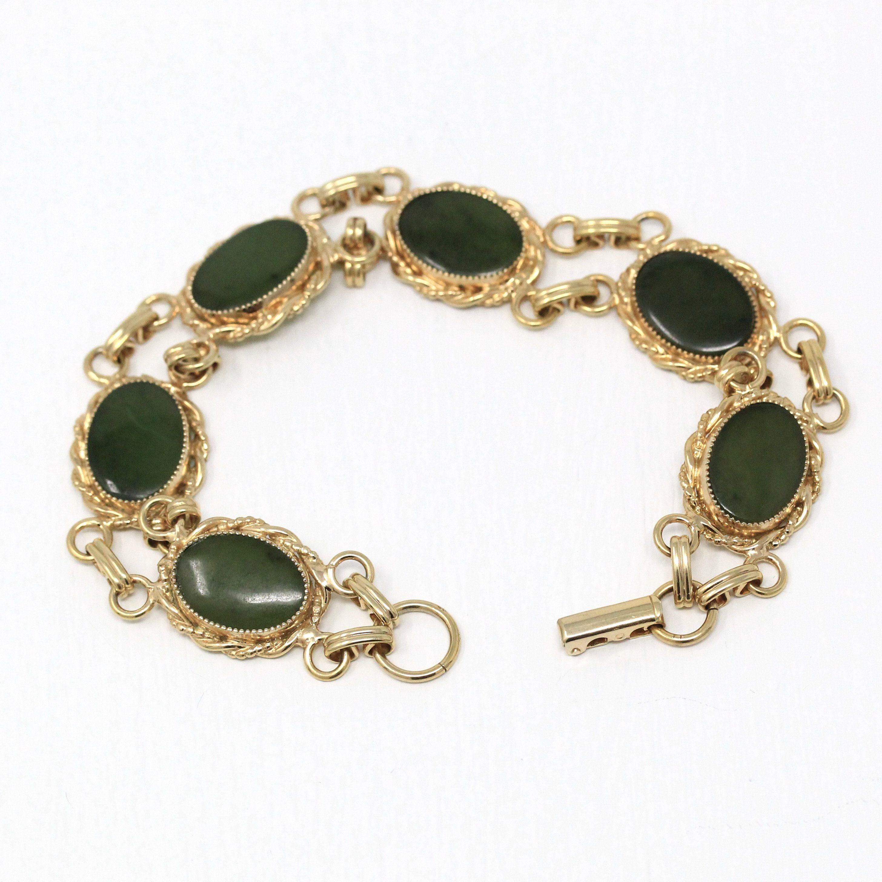Vintage Brooch Lucky Charm 120 12k Yellow Gold Fill Emerald Rhinestones