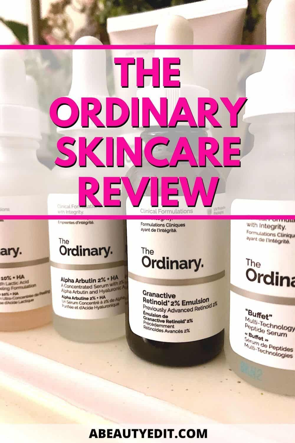 The Ordinary AntiAging Skincare Review in 2020 Aging