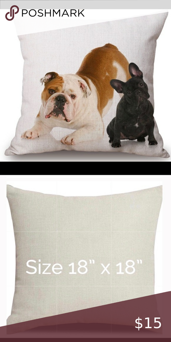 French Bulldog Throw Pillow Cover. in