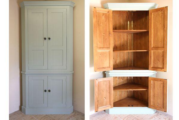 Handmade Solid Wood Larder Unit Freestanding Kitchen