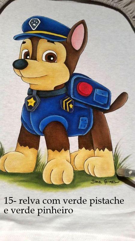 Canina Pintura Em Tecido Infantil Pinturas Em Tecido Fraldas