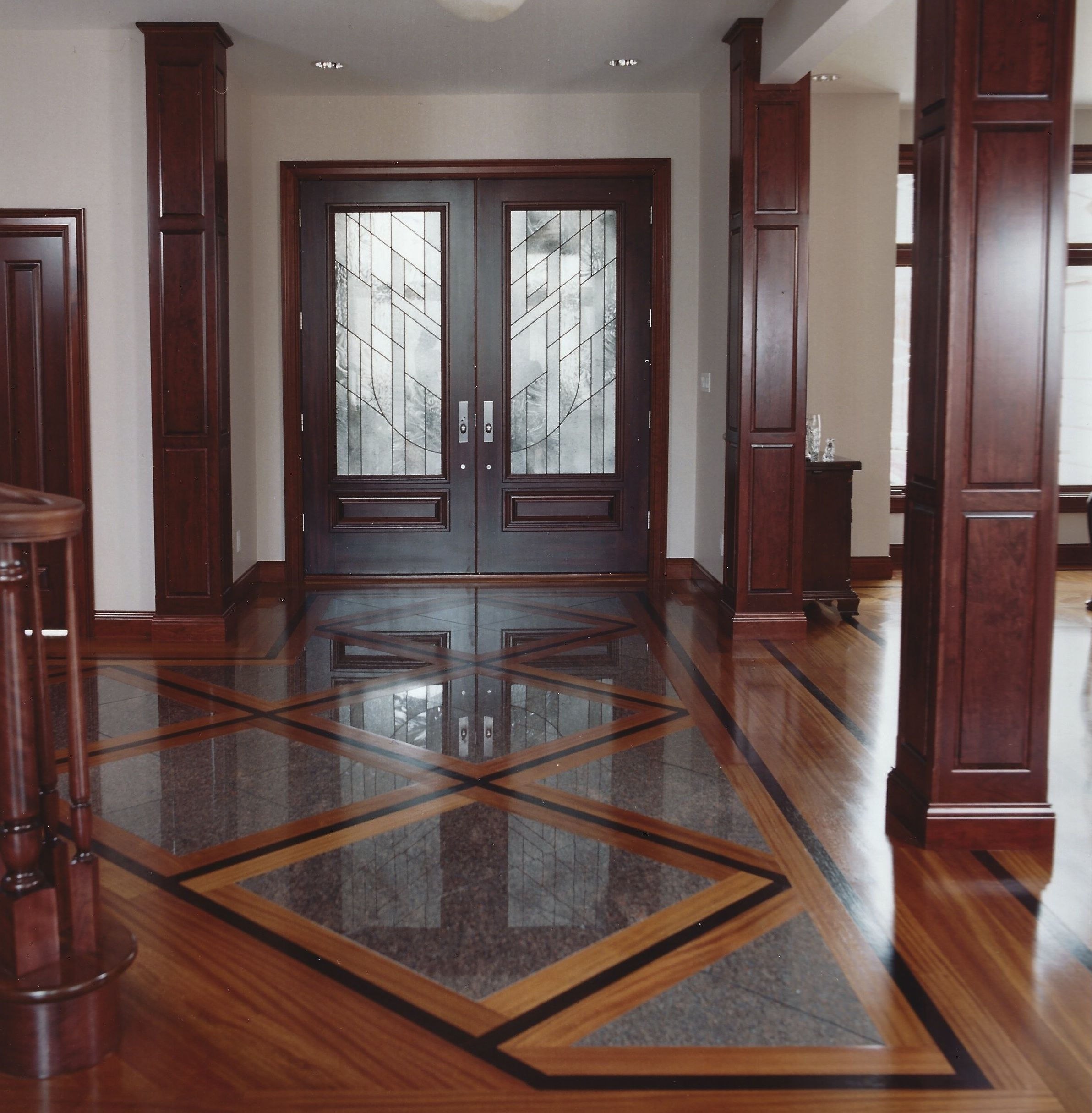 Legendary Hardwood Floors Parquet Jatoba Wenge Inlaid Granite Entry 2000 Floor Of Year Terre Haute In Pisos Para Sala Comedor Suelos Rusticos Lozas De Piso
