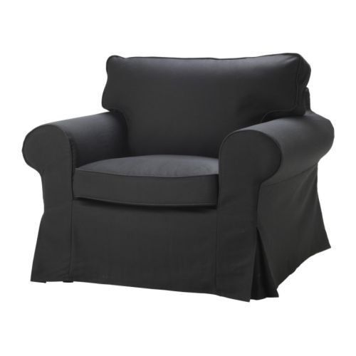 ikea cover slipcover for ektorp armchair chair idemo black cover rh pinterest com