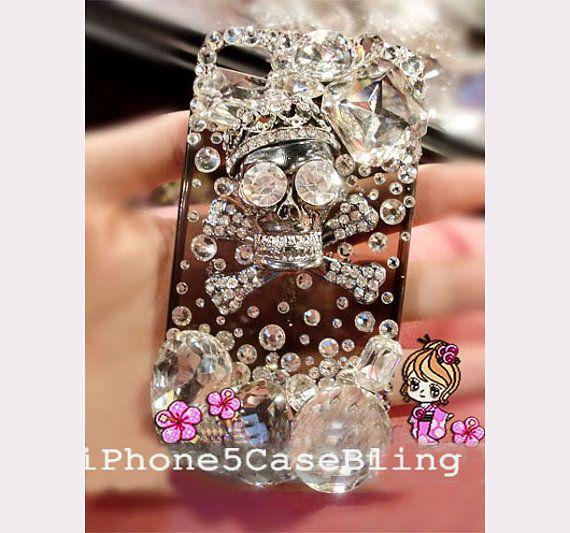 iPhone 4 Case, iPhone 4s Case, iPhone 5 Case, Unique iphone 4 case, Unique iphone 5 case, Skull iphone 4 case, Skull iphone 5 case by iPhone5CaseBling, $18.98