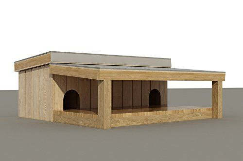 Multi Dog House With Covered Porch Plans Diy Pet Puppy Click