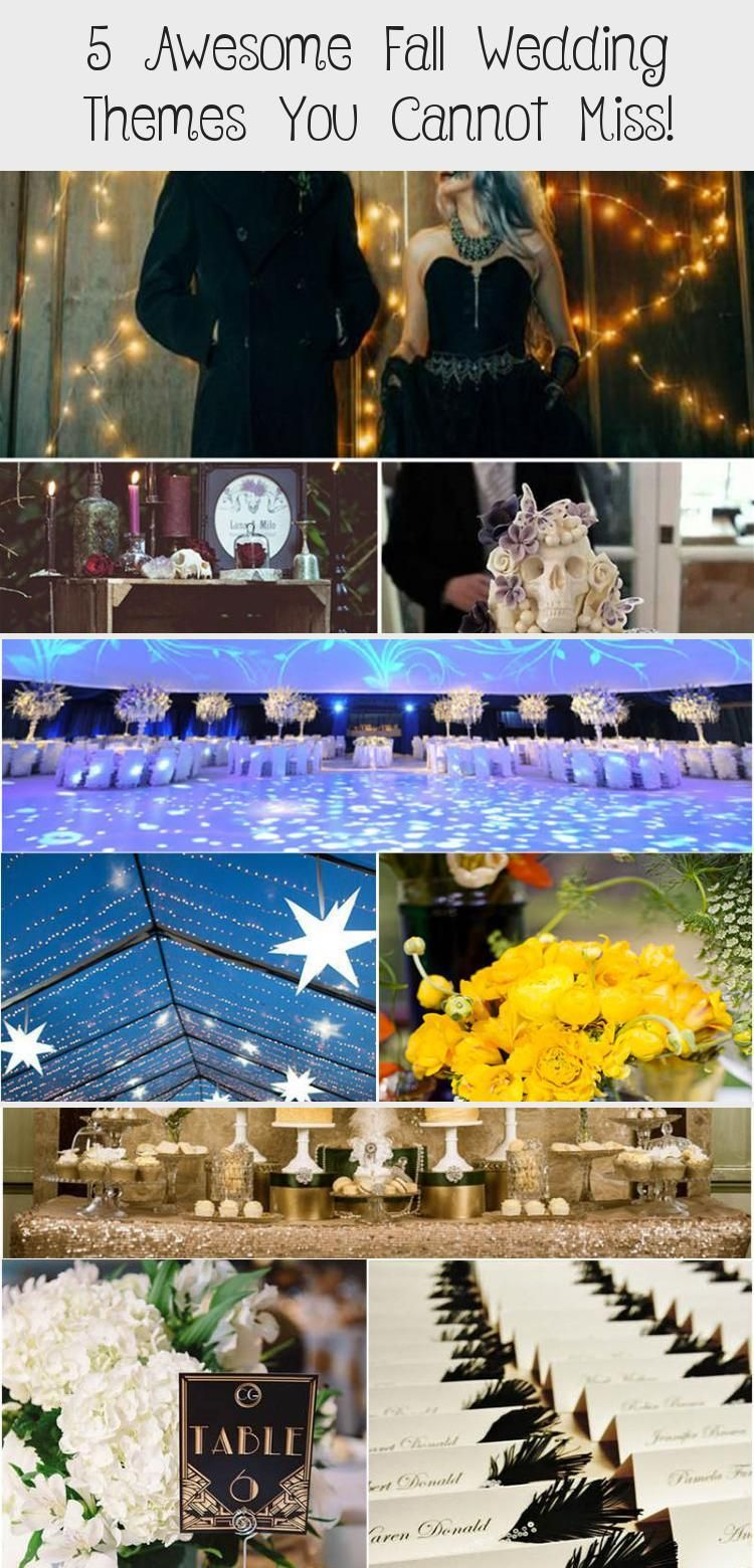 5 Awesome Fall Wedding Themes You Cannot Miss