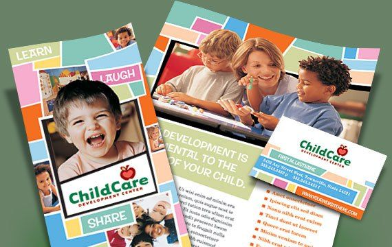 Daycare Promotional Materials  Flyers  Advertisements  Kimny