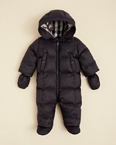 f02f8cb07578 Burberry Infant Boys  Zip Up Puffer Snowsuit - Sizes 3-18 Months ...