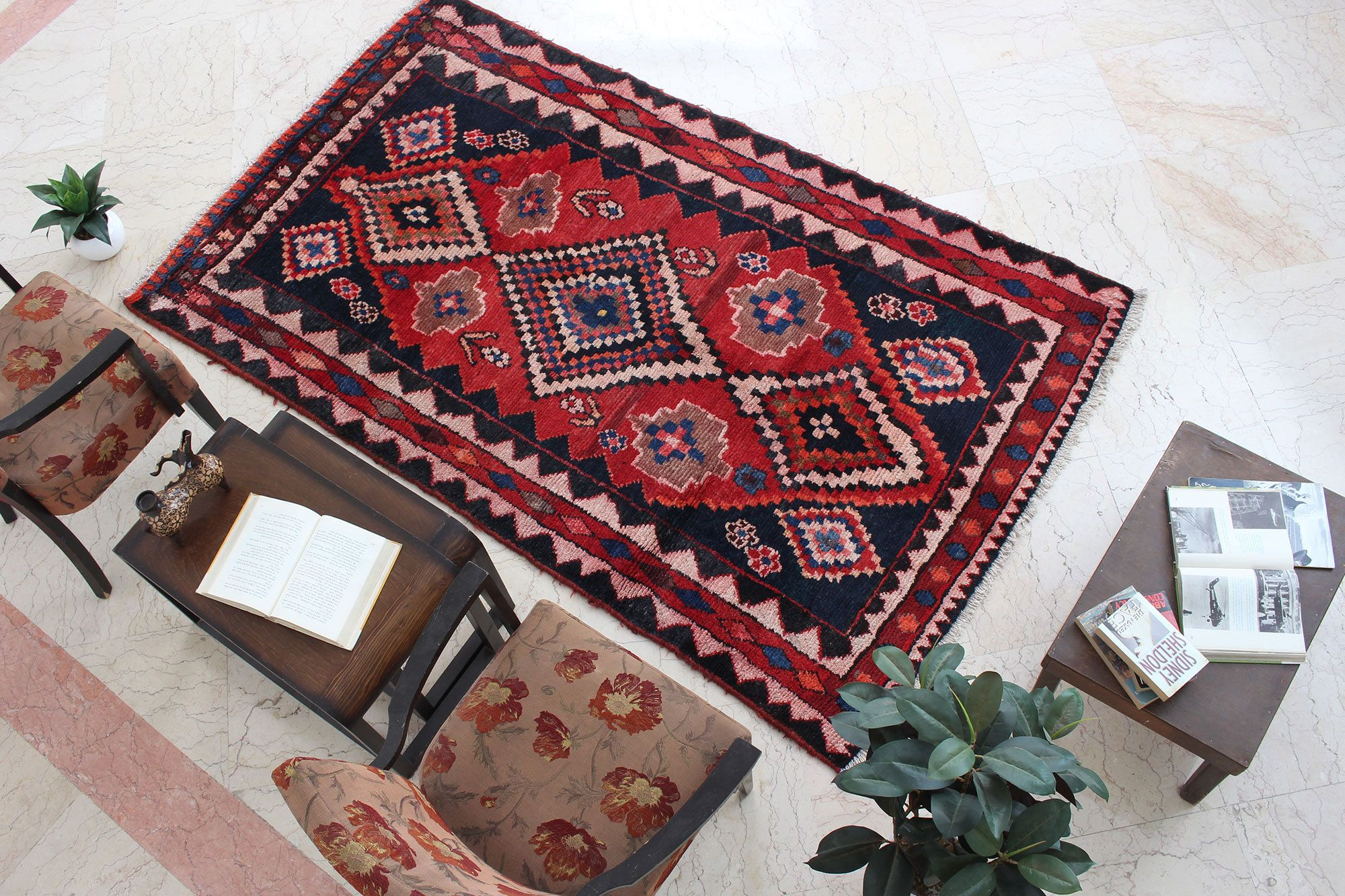 kitchen rustic turkish oriental hand knotted boho kitchen decor area rug geometric rug red rug on boho chic kitchen rugs id=75539