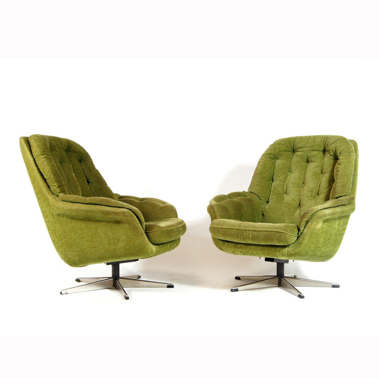 vintage swivel egg chair