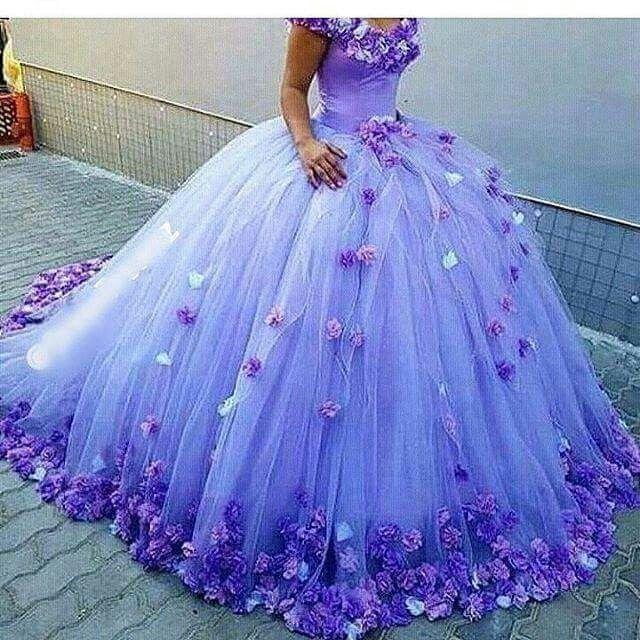 Con Flores Vestidos De Xv Pinterest Vestidos 15 Vestidos Y 15