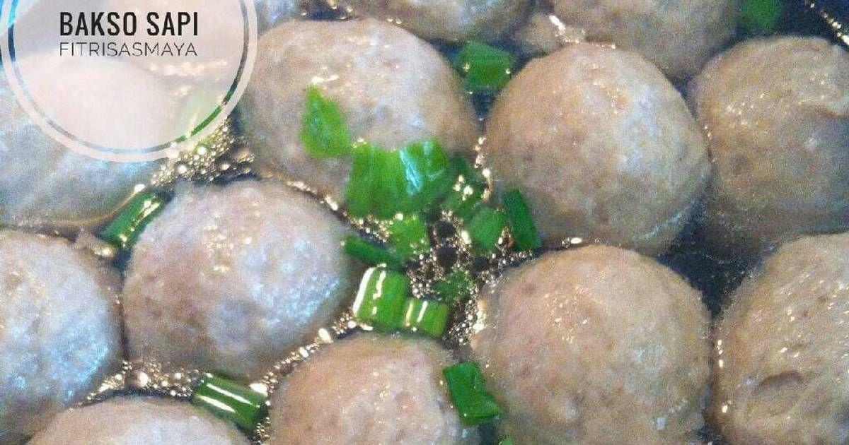 Resep Bakso Sapi Dengan Daging Fresh Oleh Fitri Sasmaya Resep Resep Masakan Indonesia Bakso Sapi