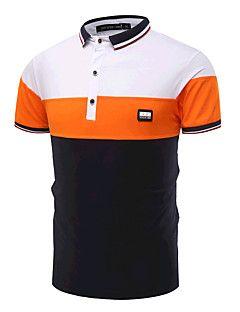 17.57  Men s Active Cotton Slim Polo - Color Block Black   White ... 748d4076795a9