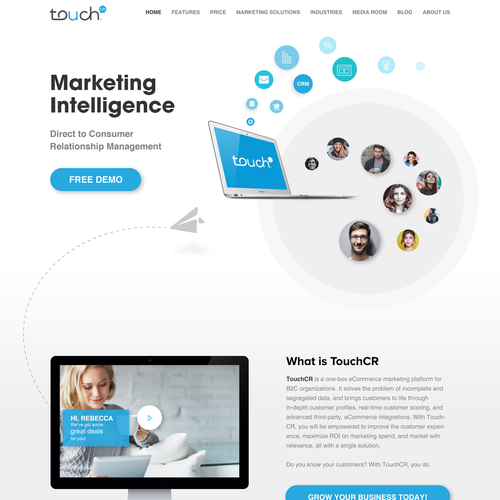 Sophisticated B2b Web Design We Are A Marketing Automation Software Company That Sells Software To Companies Who Use T Web Design Webpage Design Contest Design