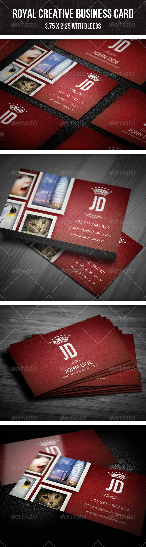 Royal Creative Photographer Business Card - 16 | Photographer ...