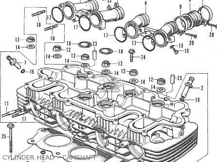 Honda Cb500 Four K1 general Export Cylinder Head