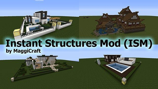 Instant Structures Mod For Minecraft 1 8 1 7 10 And 1 7 2 Minecraft Construction Minecraft Mods Mod