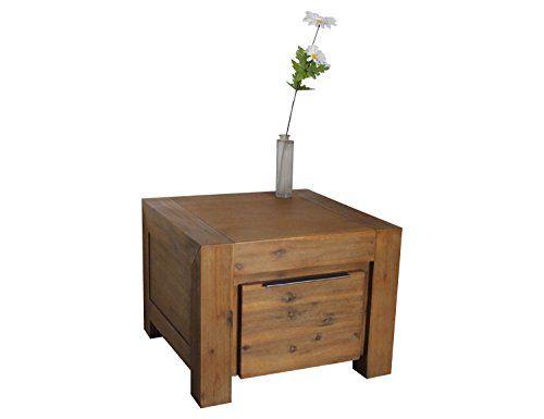 Couchtisch Aus Massivholz 60 X Cm Wohnzimmertisch Tisch Florenz Akazie